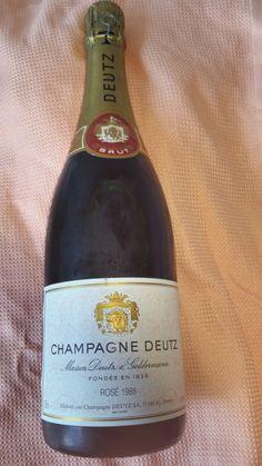 Deutz Rosé Brut Vintage 1988 Pinot Noir, Bottle, Rose, Vintage, Champagne, Wine, Pink, Flask, Vintage Comics