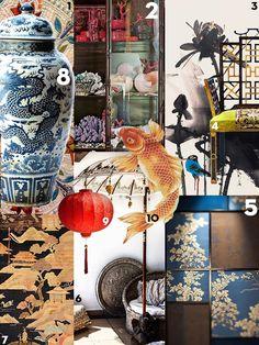 Asian Interior Design, Delft, Chinoiserie, Color Schemes, House Design, Color Palettes, Collages, Prints, Painting