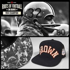 Jim Brown Snapback Hat Recognizing the Cleveland Browns record-setting  running back 4b8cde0de97a