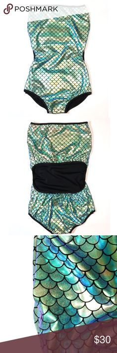 Mermaid bodysuit. Mermaid bodysuit. Can be worn as a bikini. Reflects different color from green to purple Swim One Pieces