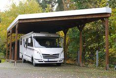 MyPort Wohnmobil Carport in anthrazit und Wandelement \