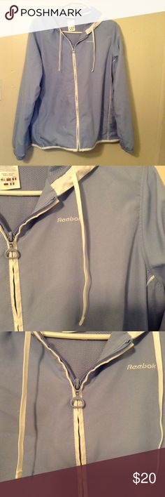 Reebok Jacket Very cute spring jacket. No rips or stains. All zippers work. Great used condition. Reebok Jackets & Coats