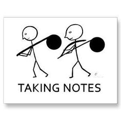 It's imporant to take notes in music classes. ;)