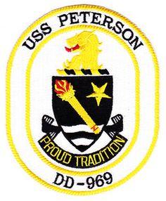USS Peterson DD-969 crest
