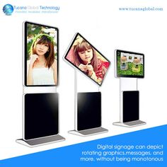 #DigitalSignage can depict #rotating #graphics, #messages, and more, without being monotonous. #TucanaGlobalTechnology #Manufacturer #HongKong