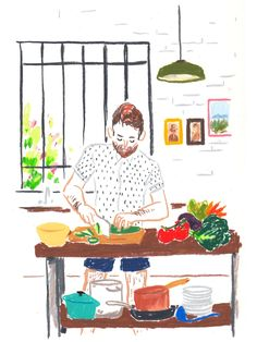 Artist Damien Cuypers at Illustration Division