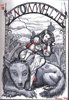 snow white dark fan art | Snow White And Bigby Wolf by ~LeighSimmons on deviantART