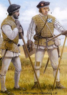 Scottish pikemen, late 1300s.