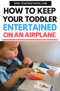These airplane activities for toddlers are a surefire way keep your toddler entertained on a plane. These activities ACTUALLY kept my toddler busy for an ENTIRE Toddler Plane Travel, Travel With Kids, Family Travel, Baby Travel, Airplane Travel, Toddler Airplane Activities, Activities For Kids, Flying With A Toddler, Road Trip With Kids