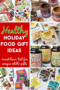 An amazing list of edible gifts that are healthy and totally unique! Sure to impress all the foodies in your life. Gluten free, vegan, paleo, and whole30 options for holiday gifting!