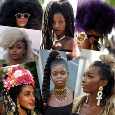 Over the weekend, thousands of cool kids trekked to Brooklyn's Commodore Barry Park for the annual Afropunk Fest. African American Beauty, African Beauty, Afro Punk Fashion, Eccentric Style, Big Curls, My Black Is Beautiful, Afro Hairstyles, Textured Hair, Hair Goals