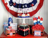 The 4th of July Patriotic Red, White and Blue Party Printable Collection