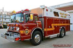 Ridley Park, PA FD Rescue 07-6 1988 Ford C/E-One Heavy Rescue Squad.