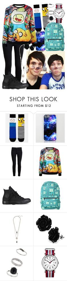 """Collabing With Dan and Phil"" by cj423 ❤ liked on Polyvore featuring ASOS, Proenza Schouler, Converse, Miss Selfridge and Timex"