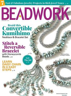 Explore the April/May 2018 digital issue of Beadwork magazine! Inside you'll find 13 bead-woven designs, 7 Fast & Fabulous flattering jewel-tone projects, and so much more! Beaded Jewelry Patterns, Bracelet Patterns, Beading Patterns, Loom Beading, Beading Techniques, Beading Tutorials, Weaving Designs, Right Angle Weave, Daisy Chain