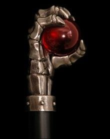 Red Ball Hand Walking Stick