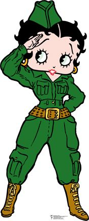 BETTY BOOP SALUTES THE ARMY SOLDIER!