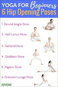 Yoga for Beginners - Hip Opening Poses   Avocadu.com
