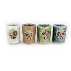 Rotgut containers!  Skully Shot Glass Set Multi now featured on Fab.