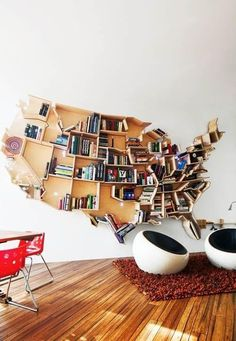 country map for a book shelf outline - nice inspiration www.homeology.co.za
