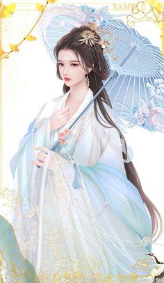 Beautiful Chinese Girl, Beautiful Fantasy Art, Beautiful Anime Girl, Chinese Drawings, Chinese Art, Anime Angel Girl, Anime Art Girl, Geisha Art, 5 Anime