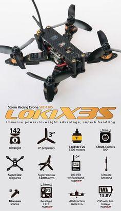 "STORM Racing Drone (RTF / SRD130S ""Loki-X3S"" / BetaFlight) http://www.helipal.com/storm-racing-drone-rtf-srd130s-loki-x3s-betaflight.html"