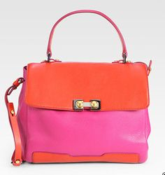 Marc by Marc Jacobs Bob's Memphis Trip Colorblock Top Handle http://tinyurl.com/7wptdoa  #Handbag #Marc_Jacobs------Try this with duct tape!