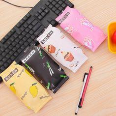 Kawaii School Pencil Case Kids Creative Dessert Fries PU Leather Pens Pencils Writing Supplies Material Stationery Girl Children #Affiliate