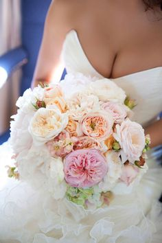 David Austin Garden Rose bridal bouquet - or just an 'I love you' bouquet for your home or desk