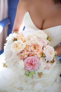 David Austin Garden Rose bridal bouquet