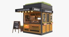 Just starting business, this 10 feet container can be a unique, attractive and inexpensive food stall - Container Cafe,Container Restaurant,Container House Container Coffee Shop, Container Cafe, Container Design, Food Stall Design, Food Cart Design, Cafe Shop Design, Kiosk Design, Signage Design, Restaurant Kfc