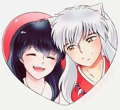 InuYasha ❤️ Kagome ( this would be a cute keychain!!:) )