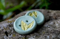 Handmade Leaf Buttons