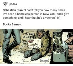 Sebby and Bucky w homeless veterans. Wow, I hope this is true. These are beautiful people. - Visit to grab an amazing super hero shirt now on sale!