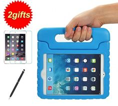 Blå Amazon.com: SUPLIK Shockproof Kids Case with Handle Light weight Protective Cover for iPad Mini, iPad Mini 2 with Retina Display,iPad Mini 3rd Generation,+Screen Protector + 2&1 Stylus Pen (Green): Computers & Accessories