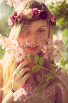 flowered headpiece