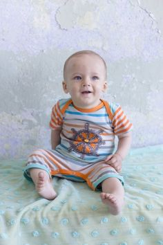 d1ce16b3da8 Zaza+Couture+Boys+Captain+Stripe+Romper Baby Boy Outfits
