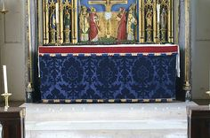 Sarum blue in Cuddesdon, Oxfordshire | by Vitrearum (Allan Barton).  Sarum blue in Cuddesdon, Oxfordshire  The high altar in Cuddesdon resplendent in its blue velvet frontal for Advent.