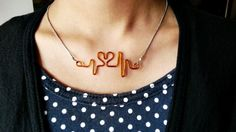 DIY Heart Beat Necklace