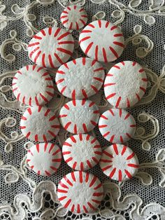 Peppermint Candy Painted Rocks - #2CA by GodsGlitter on Etsy