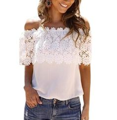 Hot Sale New 2016 Sexy Lace Shirt Women Off Shoulder Tops Short Sleeve Sexy Chiffon Blouse plus size XXXXL Blusas Shirts SMS - F A S H I O N http://www.sms.hr/products/hot-sale-new-2016-sexy-lace-shirt-women-off-shoulder-tops-short-sleeve-sexy-chiffon-blouse-plus-size-xxxxl-blusas-shirts/ US $2.99