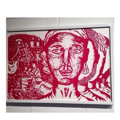 Interpretacion de la poesia de Luis Pales Matos - Majestad Negra. Print. Printmaking. Afro-caribbean poetry representation.