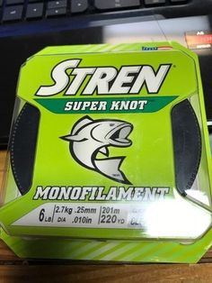 STREN Super Knot Monofilament Fishing Line 6 lb (220 yd) Clear NEW IN PACK #Stren