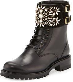 Black Biker Boots, Leather Motorcycle Boots, Black Lace Up Boots, Leather Lace Up Boots, Black Leather Shoes, Black Heels Low, Engineer Boots, Rene Caovilla, Buckle Boots