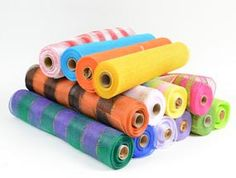 Floral Mesh  -  INEXPENSIVE Deco Mesh!!!! Tired of paying $10-$15 / roll of deco mesh? WWW.BBCRAFTS.COM