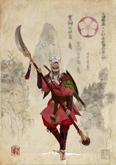 Lotus Clan Bushi (Female)