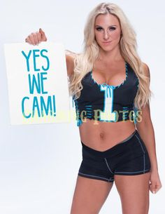 Charlotte 10 8 5x11in Glossy Promotional Photo WWE Divas Panthers Cam Newton | eBay