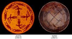 În interiorul vasului sunt pictate patru bucranii, orientate perpendicular unul pe celălalt, un aranjament destinat în mod clar să formeze o cruce, similar fiinţelor mitice plasate pe vasele samariene. În acest motiv, svastica este sugerată atât prin poziționarea capetelor de taur cât și prin modul stilizat de reprezentare a urechilor. Syria