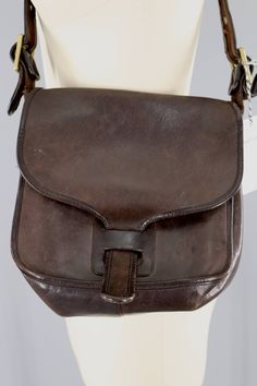 Vintage 1970s Coach Messenger Bag / Brown Leather / 716 4403