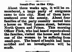 Genealogical Gems: On This Day: Small Pox strikes Lancaster